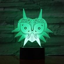 3d Led Night Light Mask of The Legend of Zelda Kids Nightlight for Bedroom Child Gift Home Office Club Atmosphere Table Lamp недорого