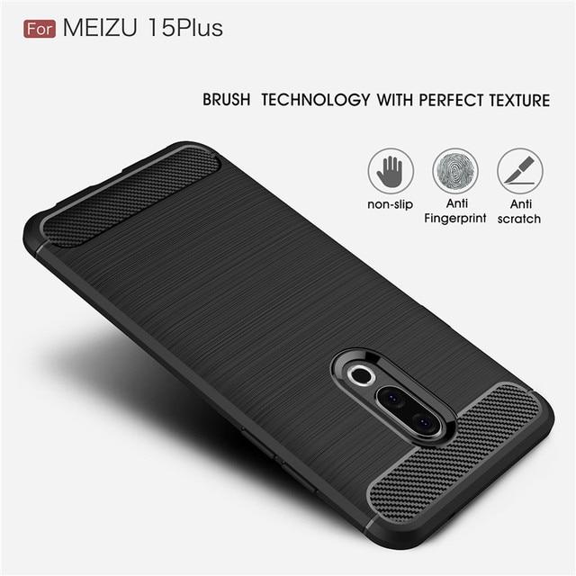 Pour housse Meizu 15 Plus étui WolfRule souple Silicone robuste pare-chocs pochette téléphone sac étui pour Meizu 15 Plus coque 5.95