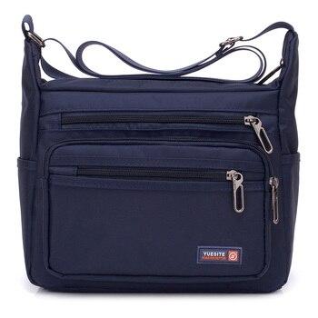 Nueva moda Vintage hombres Oxfords bolsos de mano de alta calidad hombres bolsos de hombro hombres de gran capacidad hombre mujeres mensajero Nylon Crossbody bolsos