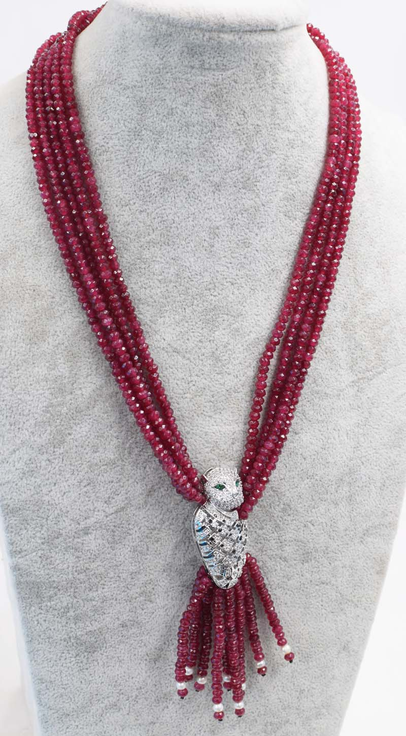 4rows pinkred jade roundel faceted 4*2mm necklace 19inch wholesale beads nature FPPJ woman 2017 цена