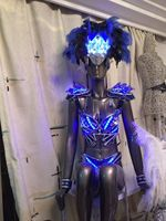 Led Luminous Catwalk Clothes Sexy Evening Dress Singer Cosplay Ballroom Costume For Stage Dance DJ Bar TV Show