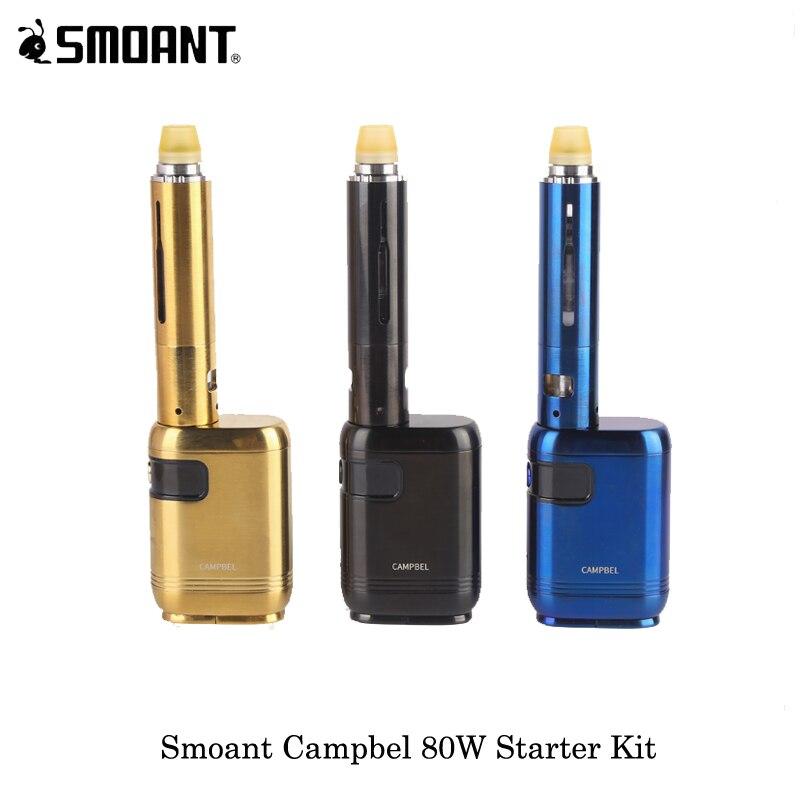 electronic cigarettes 80W Smoant Campbel Box Mod With Campbel Tank NI80 OCC 2ML/3ML Powered By One 18650 Battery Vape Vaporizer