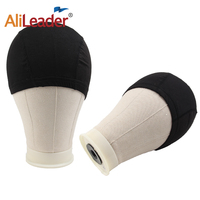 Training Mannequin Head Canvas Block Head and Dome Wig Cap 2Pcs/ 21 25 Wig Stand Cork Wig Block Canvas For Wig Making