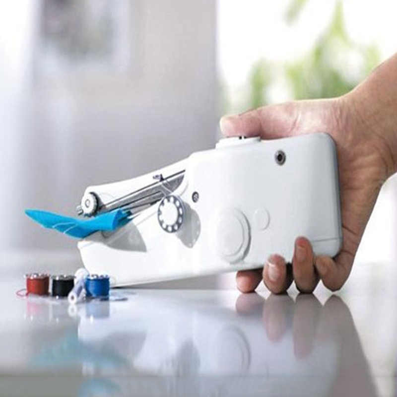 2017 Mini Portable Handheld sewing machines Stitch Sew needlework Cordless Clothes Fabrics Electric Sewing Machine Stitch Set