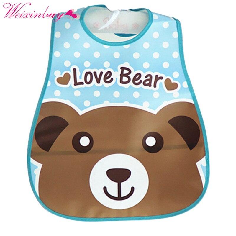 Baby Bibs Waterproof Silicone Newborn Saliva Feeding Towel Wholesale Cute Cartoon Bibs Baby 5 Style