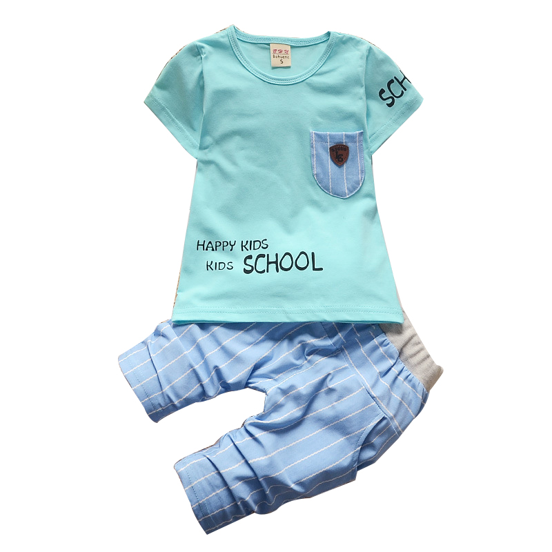 2018 Summer Boy Clothes New Cotton 1 2 3 Year T-shit+Pants 2PCS Suit Baby Boy Clothes Ch ...