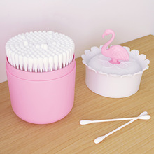 Фламинго дизайн макияж Органайзер косметический ящик для хранения с крышкой ванная комната ватный тампон макияж Органайзер зубочистка держатель бутылки
