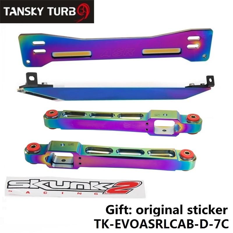 Prix pour Tansky-Neo Chrome Faux Châssis Bar + Inférieur Tie Bar + Arrière Bras De Commande Inférieur Pour Mitsubishi Proton TK-EVOASRLCAB-D-7C
