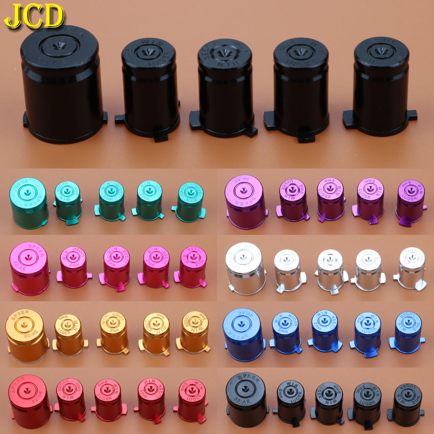 JCD 1Set/5PCS Metal Bullet ABXY & Guide Buttons For MicroSoft Xbox 360 For Xbox360 Controllers Replacement
