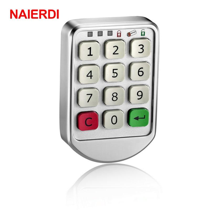 Metal Digital Electronic Password keypad Number Cabinet Code Locks Silver