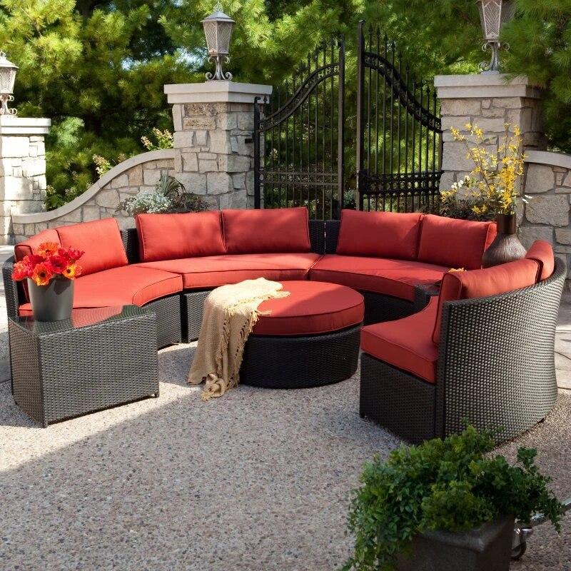 hot sale waterproof deep seating patio used sofa furniture