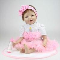 Симпатичные 22 дюйм(ов) винилсиликоновых кукла возрождается ручной дети хобби принцесса каваи младенцев жив игрушки 0 12 месяца куклы