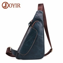 JOYIR Leather Messenger Shoulder Bags Travel Genuine Leather Chest Bag Strap Sling Casual Chest Pack Crossbody Bags for Men New