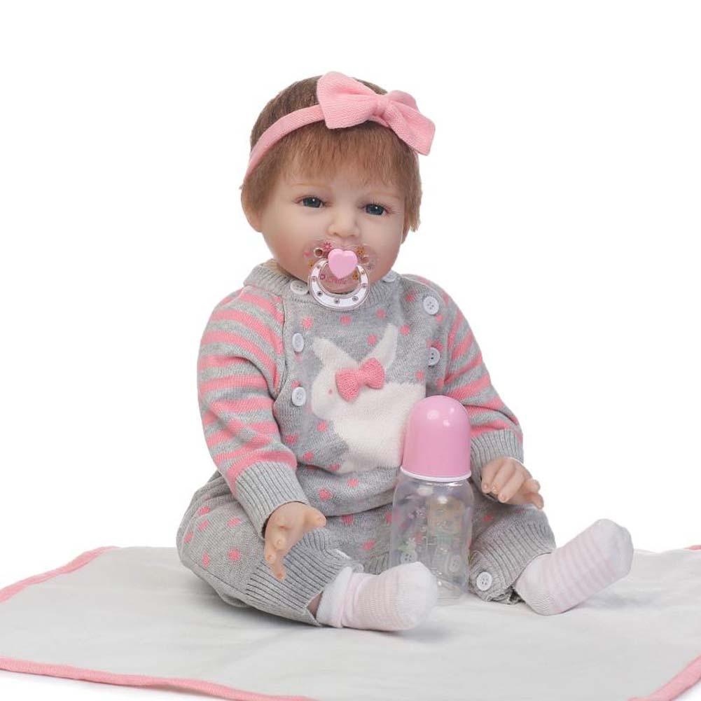 NPK 55cm Lifelike Reborn Doll Toy Set Soft Silicone Girl Baby Newborn Dolls for Kids Playmate Gift BM88 npk 56cm lifelike reborn newborn doll set silicone boy baby dolls for kids playmate toy gift bm88