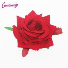 2017 Red High Quality Wedding Flower Floral Hair Clip Hairpin Girls Hair Accessories Headwear Barrettes Woman Hair Ornament