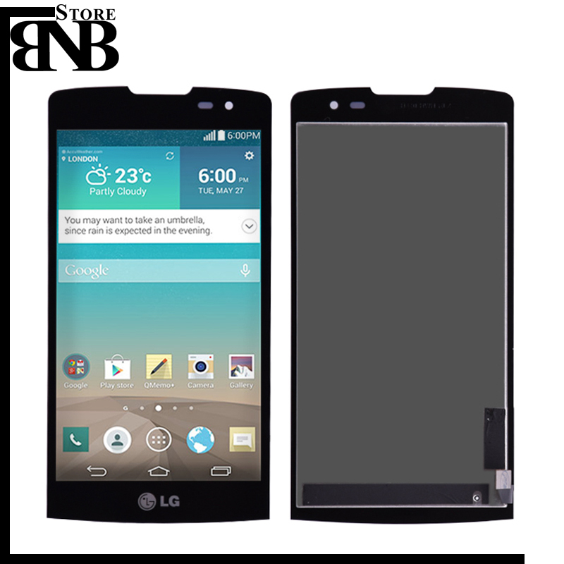 For LG Leon H340 h320 h324 H340N H326 MS345 C50 H342 LCD Display Touch Screen Digitizer Assembly with frame Black color