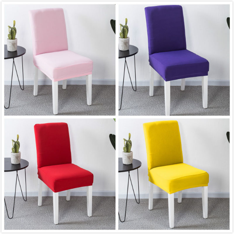 Solid Color Chair Cover Spandex Stretch Elastic Slipcovers Chair Covers  White For Dining Room Kitchen Wedding Banquet Hotel|Chair Cover| -  AliExpress