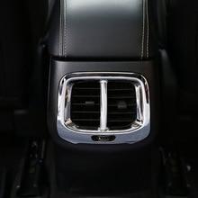 world datong interior abs chrome rear air condition armrest outlet vent panel carbon fiber texture trim 1pcs for jaguar e pace For Jeep Cherokee KL 2014/15/16/17/18 ABC Chrome Car Rear Air Condition outlet Vent frame Panel Cover trim Accessories 1pcs