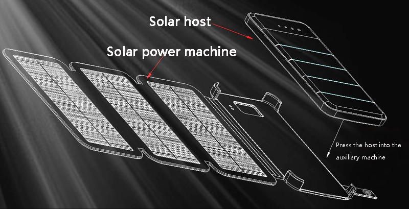 Image 4 - 20000mAh  Waterproof solar power bank Solar Charger External Battery Backup Pack For cell phone Tablets For iphone Random color-in Power Bank from Cellphones & Telecommunications