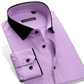CAIZIYIIJIA 2017 Plaid Mens Business Casual Shirts Long Sleeve 100% Cotton High Quality Fashion Collar Brand Young Men Shirts