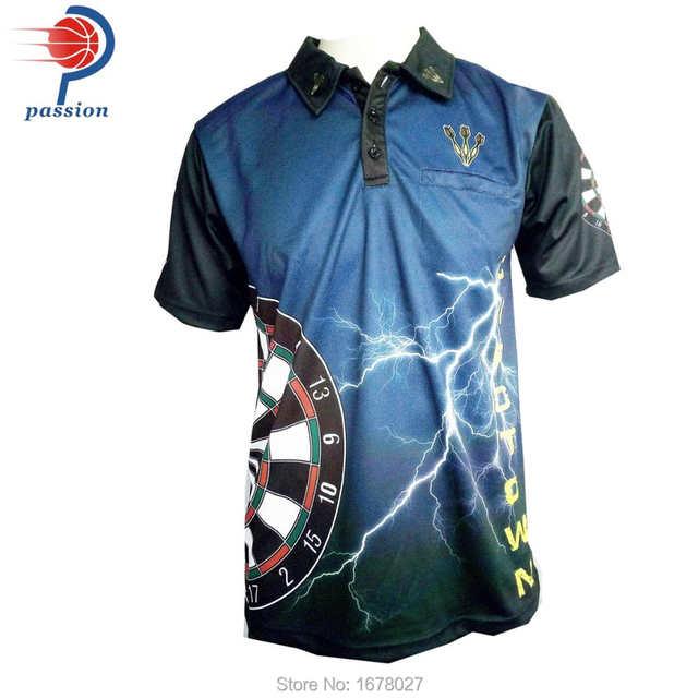 innovative design 855e5 b6660 Classic Popular Black Blue Passion Design Dart Shirts With Custom Team Names
