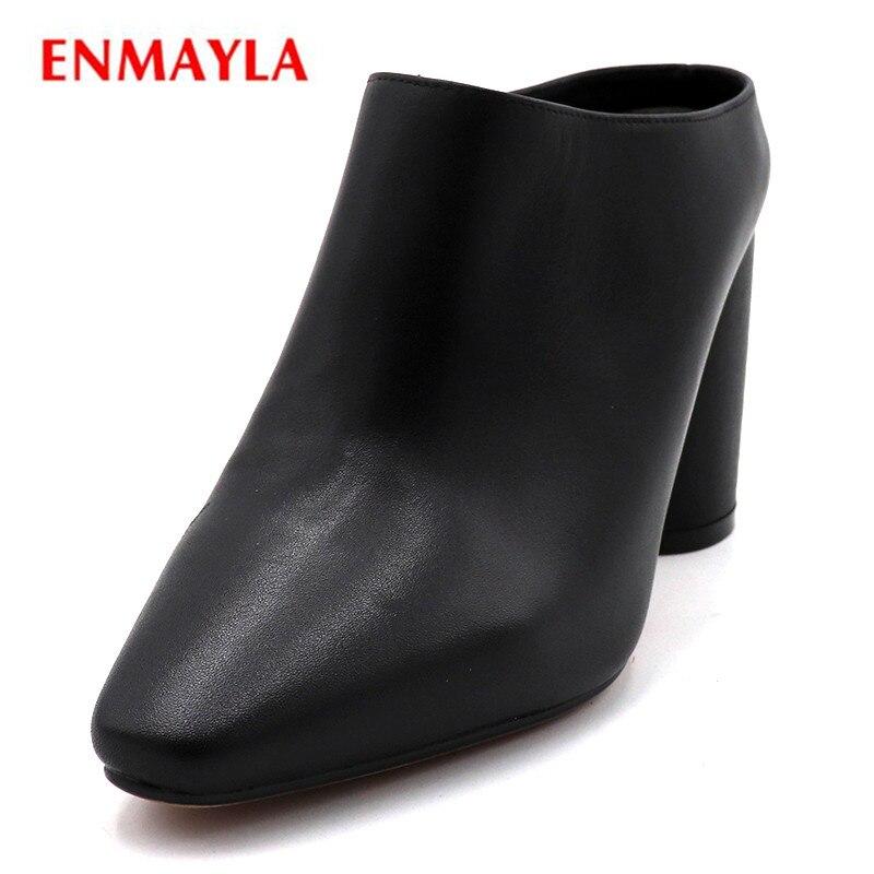 6b028639 Zapatos blanco Superficial Puntiaguda on Lades Mujer Casual De Alto  Cuadrado Plataforma Enmayla Niñas Negro Slip Tacón Bombas Punta marrón  4nv0w76qUA