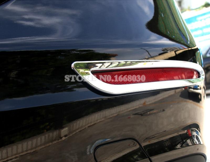 2 copë për mbulesën e dritës me mjegull të pasme të ABS Chrome - Aksesorë të brendshëm të makinave - Foto 6