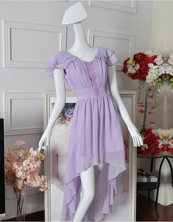 High Low Lilac Dress (2)