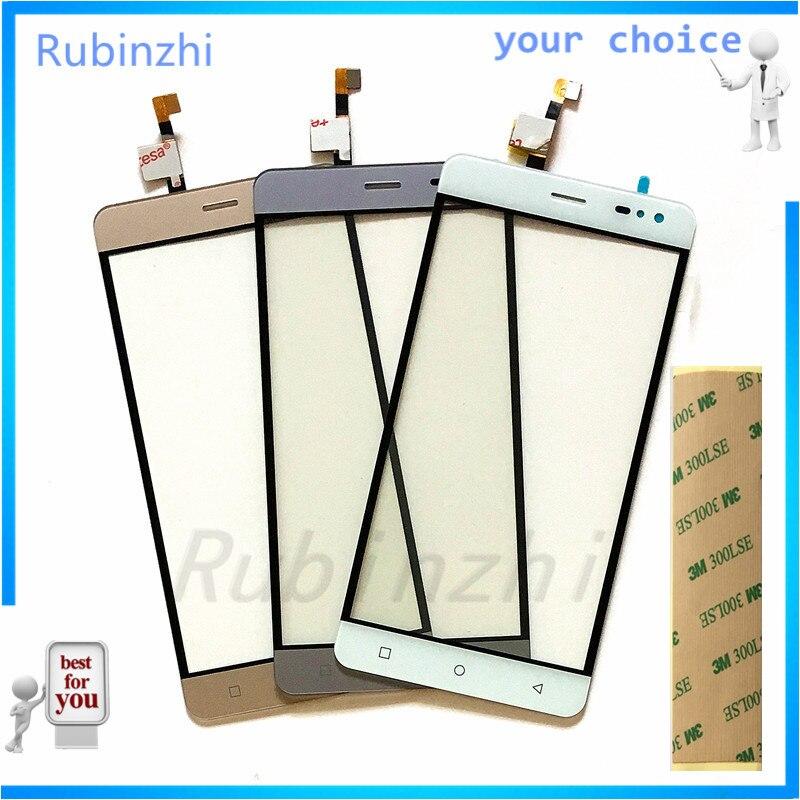 RUBINZHI Mobile Téléphone Tactile Écran Pour Vkworld G1 4G LTE Écran Tactile Digitizer Panneau Avant Verre de Remplacement Avec 3 M Bande
