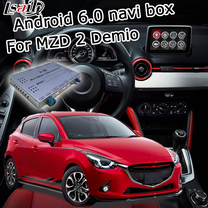 Android 6 0 GPS navigation box for new Mazda 2 demio with mirror link youtube google