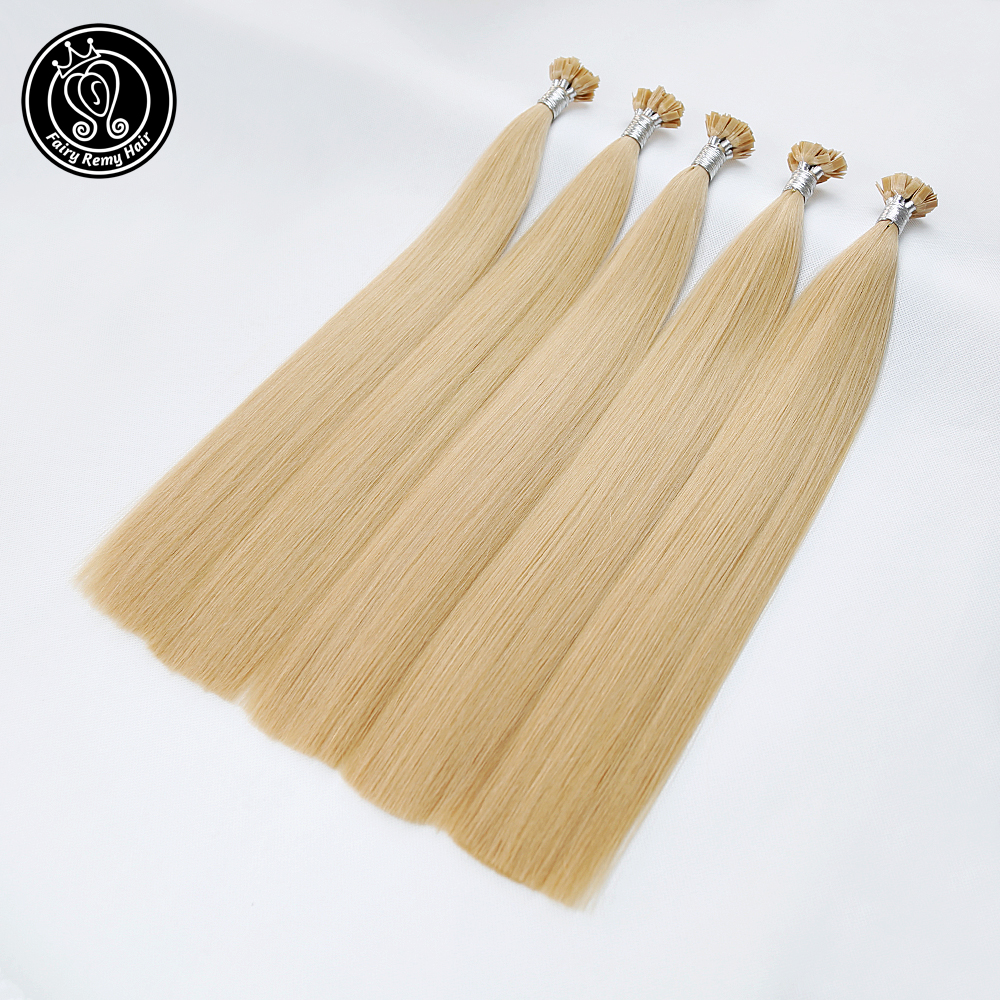 Fairy Remy Hair 0.8g/s Real Remy Human Flat Tip Hair Extensions Double Drawn Blonde Capsules Keratin Human Hair Strands 80g/