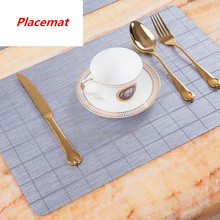 European western food mat PVC placemat plastic waterproof oil-proof Insulation pads Table 30x45cm Placemats tablecloth