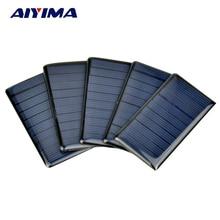 AIYIMA 10Pcs Solar Panels Solar Epoxy Plates Polycrystalline Spot 68x36MM 5V 65MA DIY Solar Battery Charger
