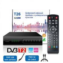 LEORY HDMI Satellite Tv Receiver Tuner Dvb T2 Wifi Full-HD 1