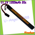 wholesale 1pcs 100% Orginal FireFox 11.1V 1200mAh 20C Li Po AEG Airsoft Battery L F4R12M Drop shipping