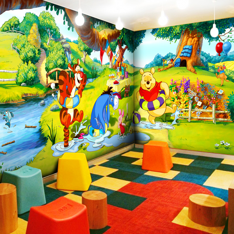 Wholesale 3d wall murals vinyl wallpaper for baby kids for Child mural wallpaper
