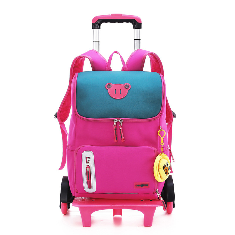 Trolley Backpack Detachable Stairs Six-Wheeled Girl Gift-Ornaments Pupils Climbing 8-12-Years-Old