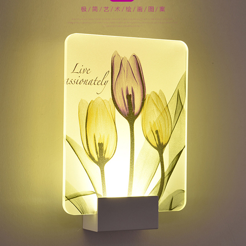 Creative 8W Butterfly Wings Style Warm White LED Wall Porch Light,Acrylic Wall Lamp Led Wall Sconce with Brushed Silv