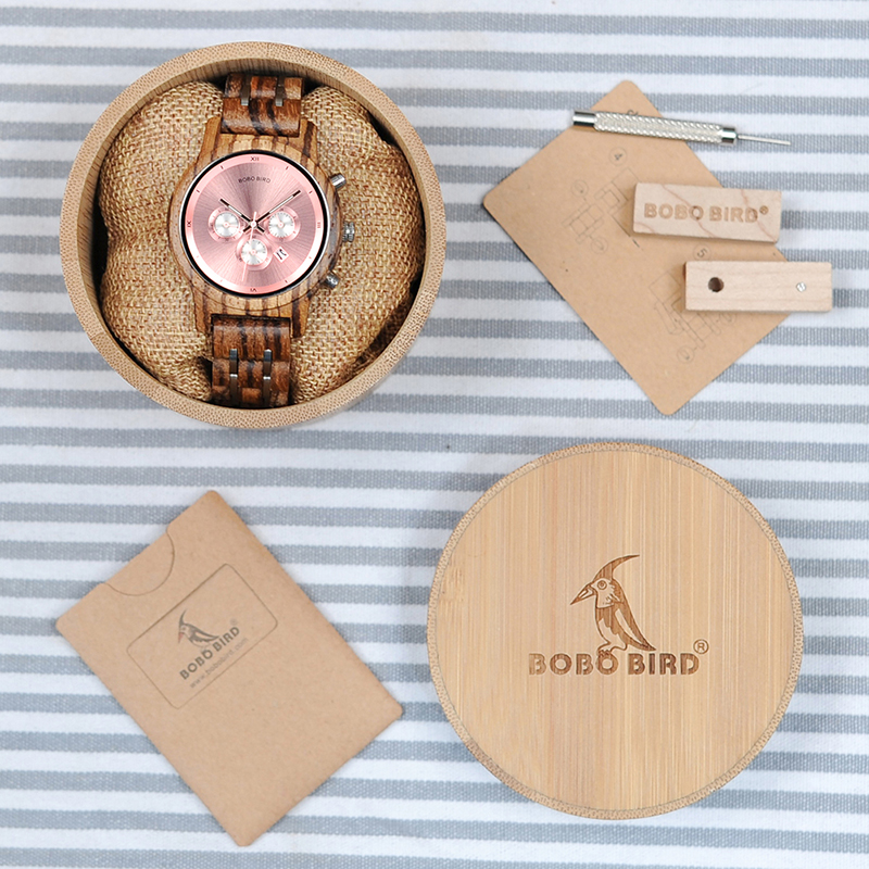 BOBO BIRD V-P18 Luxury Unique Wood 40мм аялдамасы - Әйелдер сағаттары - фото 5