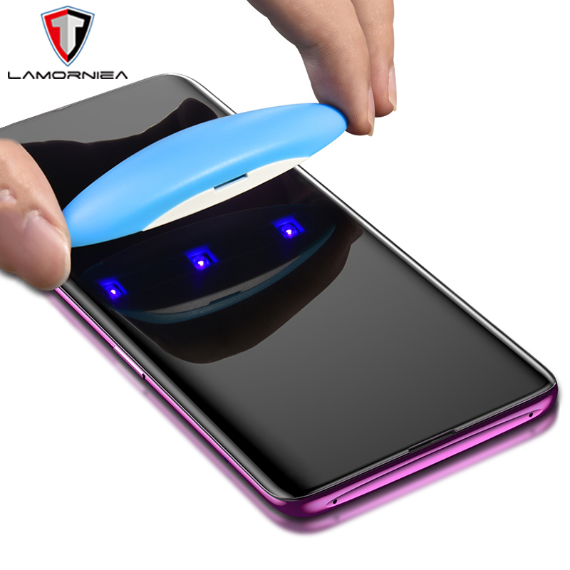 UV Tempered Glass For <font><b>Samsung</b></font> Note 9 8 <font><b>S9</b></font> S8 S7 Edge 5D Full Liquid Glue Screen <font><b>Protector</b></font> For <font><b>Samsung</b></font> Galaxy S8 <font><b>S9</b></font> S10 S20 Plus image