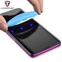 UV Vetro Temperato Per Samsung Note 9 8 S9 S8 S7 Bordo 5D Pieno di Liquido Colla Protezione Dello Schermo Per Samsung galaxy Note 8 S8 S9 Più