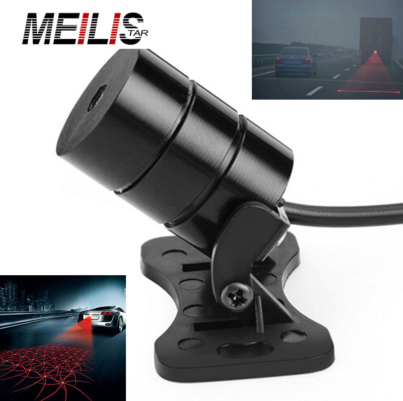 Car Styling Motorcycle Anti Collision Laser Tail Led car Fog Lights Auto Brake Parking Warning Lamps Car-Styling For BMW E46 car tracing cauda laser light for volkswagen vw jetta mk6 bora 2010 2014 special anti fog lamps rear anti collision lights