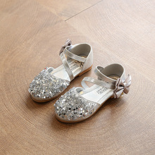 New Big Teenagers Toddler Children Girls Summer Sequins Sandals For Teens Girls Pink Gold Princess Party Wedding Single Shoes
