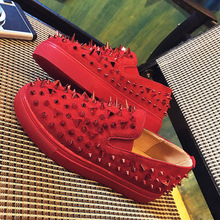 YeddaMavis Red Rivet Flats Women Sneakers Shoes Harajuku Ladies Womens Woman Black Lazy Zapatos De Mujer