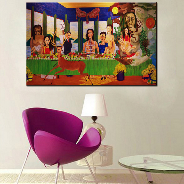 Large size Print Oil Painting Wall painting Frida Kahlo Last ...