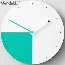 Mandelda  Designer Wall Clock Pendule Murale Decorative Metal Watches Digital Decoracion Vintage Madera Para Casa