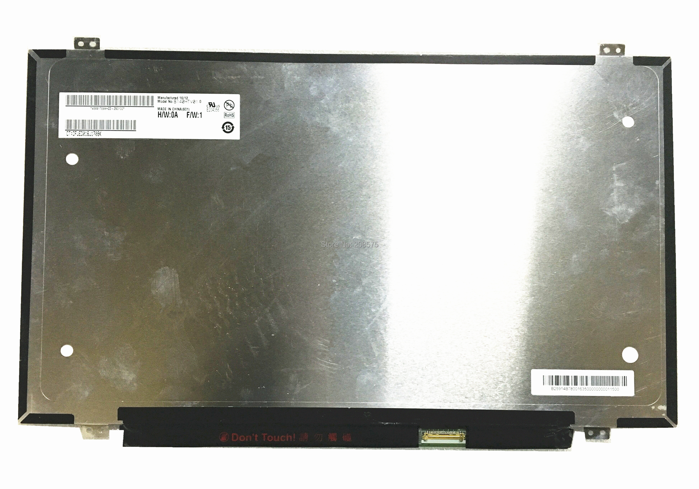 Free Shipping B140HTV01.0 14.0''inch FHD Laptop Lcd Screen 1920*1080 120hz Display free shipping new original 13 3 laptop lcd led screen lq133m1jw01 1920 1080 30pins notebook display