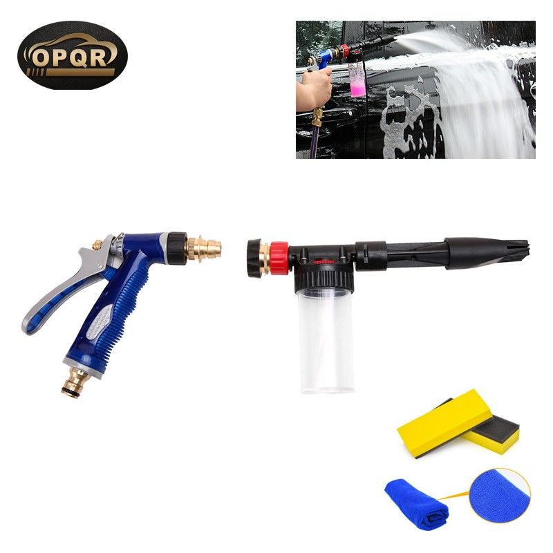 high pressure snow foamer water gun washer tornador car cleaning car wash sprayer foam gun nozzle for washing metal hose nozzle high pressure water spray gun sprayer garden auto car washing