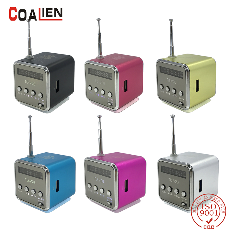COALIEN Mini Portable Speaker Micro SD TF MP3 Player FM Radio USB Music Stereo Speaker for Computer PC