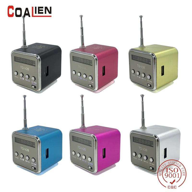 COALIEN Mini Portable Speaker Micro SD TF MP3 Player FM Radio USB Music Stereo Speaker for Computer PC